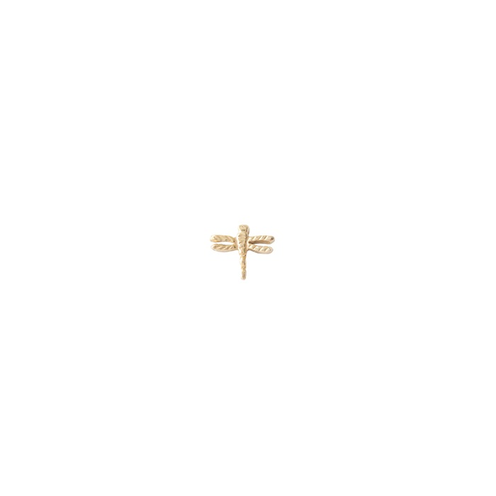 Dragonfly Sterling Silver Gold-Plated Earring