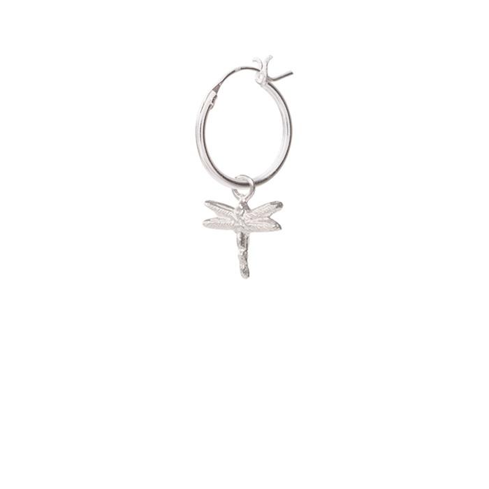 Dragonfly Sterling Silver Hoop Earring