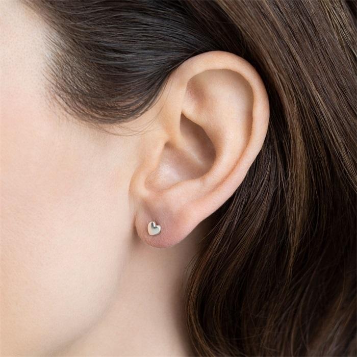 Heart Sterling Silver Earring