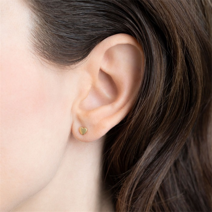Heart Sterling Silver Gold-Plated Earring