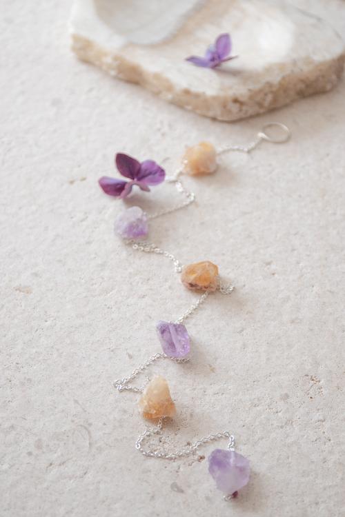 Väggdekoration rå kristaller Peace