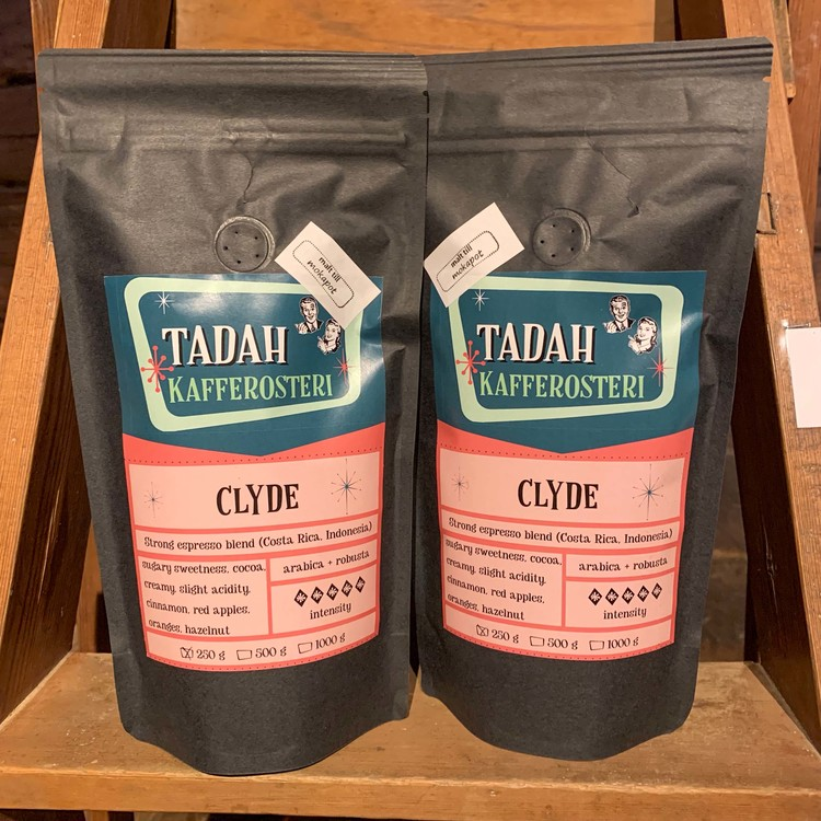 Kaffe, Clyde, espressomalet, 250 gr, Tadah