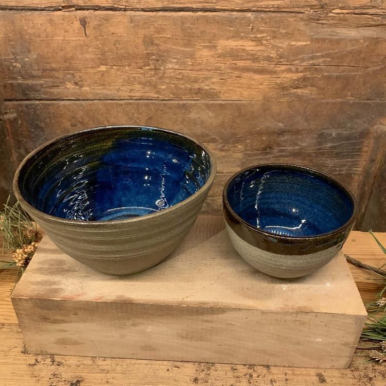 Keramikskål, Lamm och Lera, blå eller grön