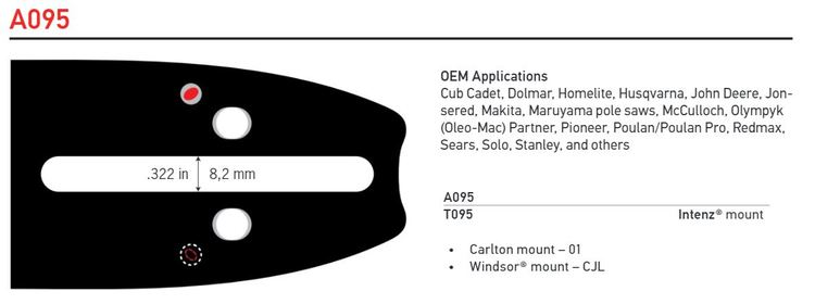 "Svärd 12"" - 16""  3/8 Lo pro 1,3mm A095 - Single Rivet OREGON"