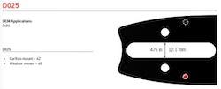 """Svärd 16"""" till 20""""  3/8 1,3mm (0,050) OREGON VersaCut  -D025"""
