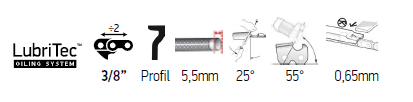 Sågkedja 3/8 1,5mm - PowerCut 70-Series EXL