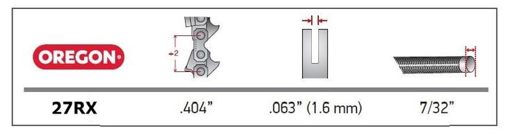 Klyvkedja 0,404 1,6mm SUPER SKIP - OREGON
