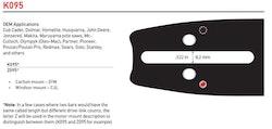 """Svärd 16"""" till 24""""  3/8 1,5mm (0,058)  OREGON POWERCUT K095"""