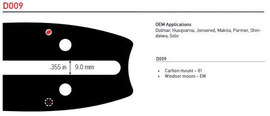 """Svärd 36"""" till 42""""  3/8 1,6mm (0,063)  OREGON POWERCUT -D009"""