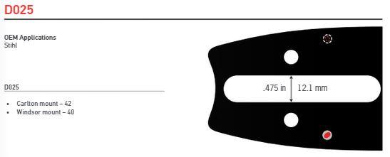 """Svärd 20"""" till 42""""  3/8 1,6mm (0,063)  OREGON POWERCUT -D025"""