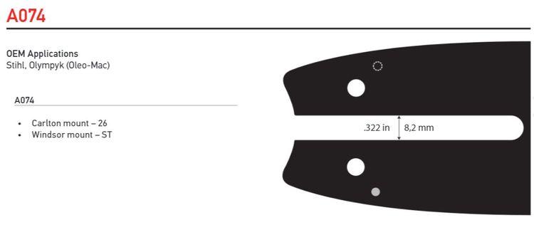 """Svärd 12"""" till 16""""  3/8 Lo pro 1,3mm (0,050)  OREGON SingleRivet -A074"""