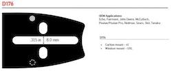 """Svärd 16"""" till 24""""  3/8 1,5mm (0,058)  OREGON  -D176"""