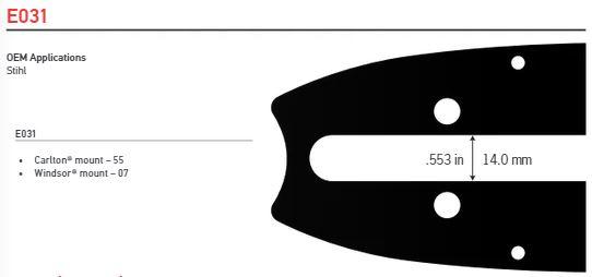 """Svärd 64""""  3/8 lo pro 1.3mm (0.050) 196DL"""