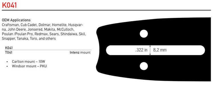 """Svärd 13"""" till 18""""  0,325 1,3 mm (0,050) - OREGON ADVANCECUT -K041"""