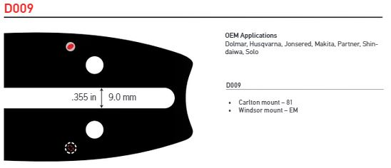 "Svärd 15"" till 24""  3/8 1,5mm (0,058)  OREGON ADVANCECUT -D009"