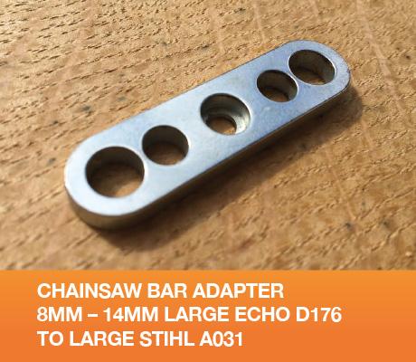 Svärd adapter 8mm 14mm - Medium ECHO till Stor STIHL