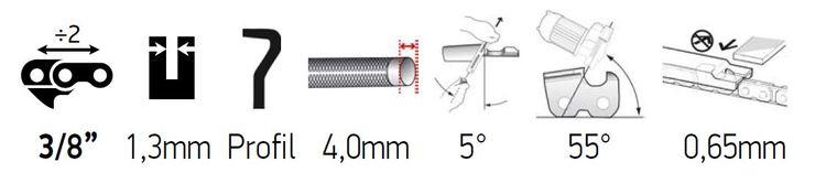 """Klyvkedja 3/8 Lo pro 1,3mm (0,050) -  Valfri längd - 16"""" - 18"""" - 24"""" & Rulle 100FT"""