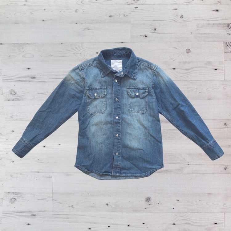 Jeansskjorta, Lager 157, Stl 130