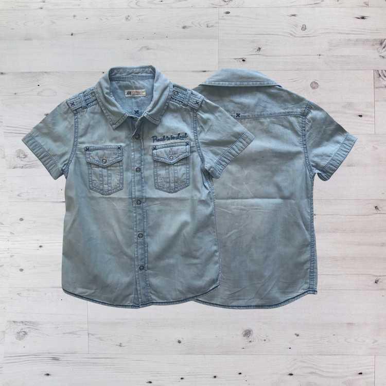 Jeansskjorta, H&M, Stl 110
