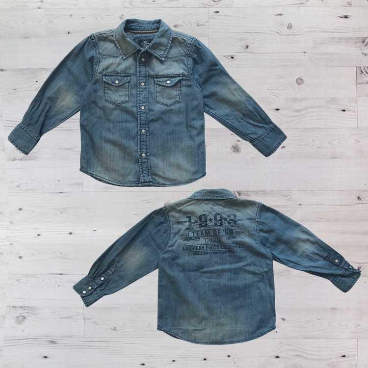 Jeansskjorta, H&M, Stl 116