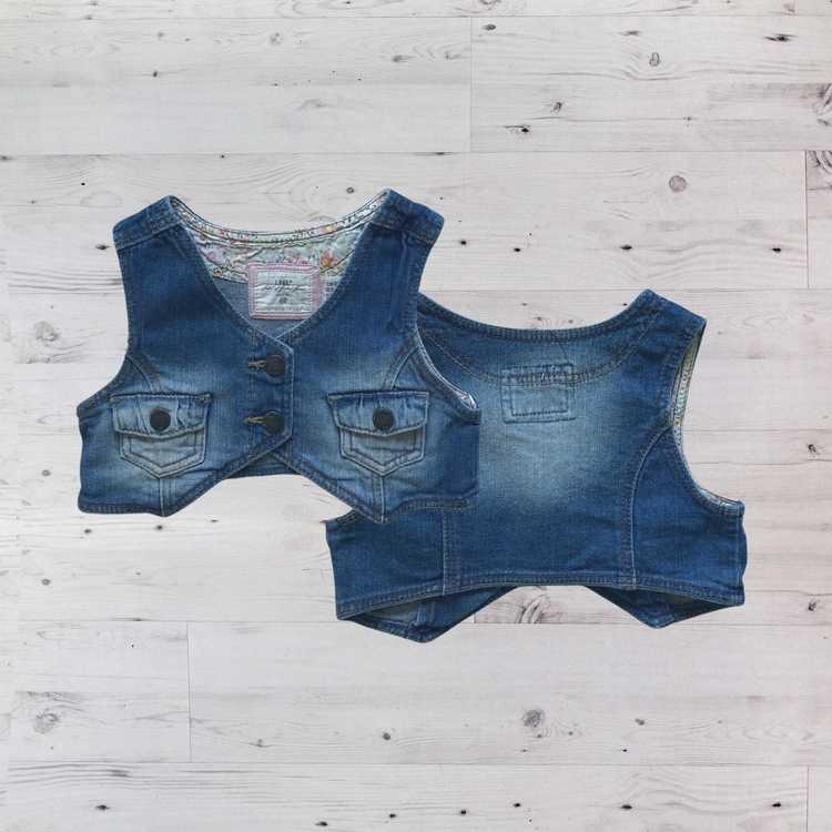 Jeansväst, H&M, Stl 80