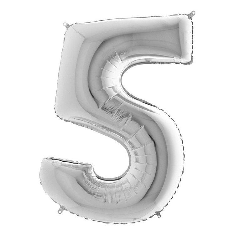 Sifferballong Silvermetallic