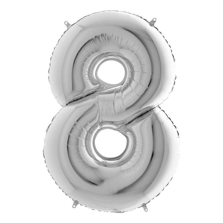 Silver Metallic Sifferballong
