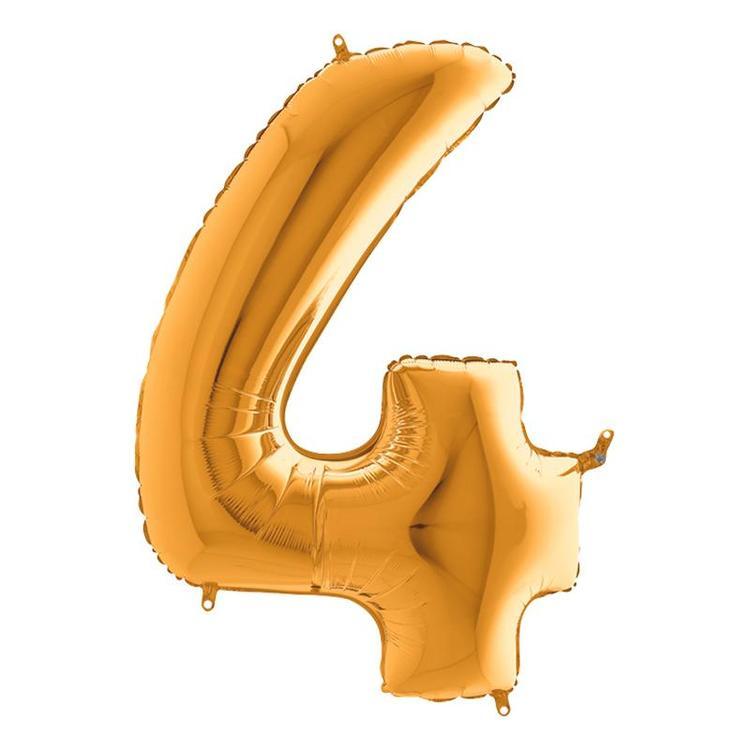 Guld Metallic Sifferballong