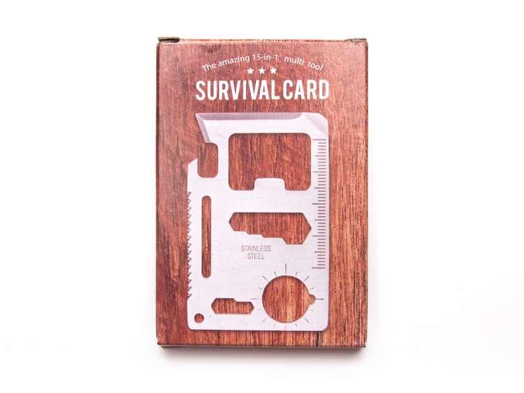 Survival Card - Multiverktyg