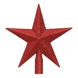 Toppstjärna Röd/Glitter