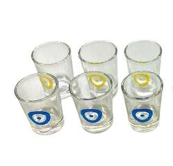 Shotsglas i härdat glas (6-pack)