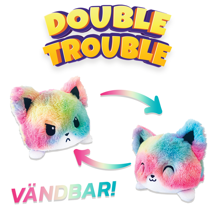 Double Trouble Vändbara Gosedjur