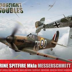 Airfix Supermarine Spitfire Mk1a Messerschmitt Dogfight Giftset