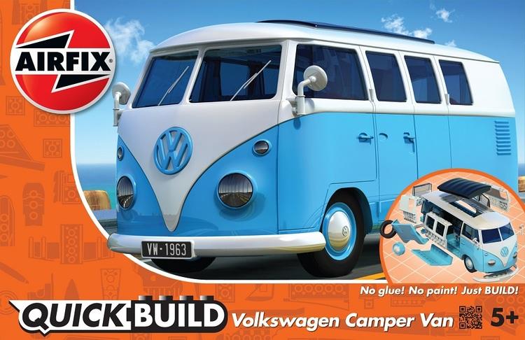 Airfix Quick Build VW Camper Van Blue