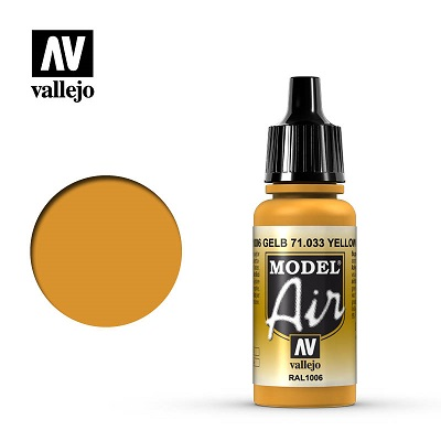Vallejo Model Air Yellow Ochre 71033