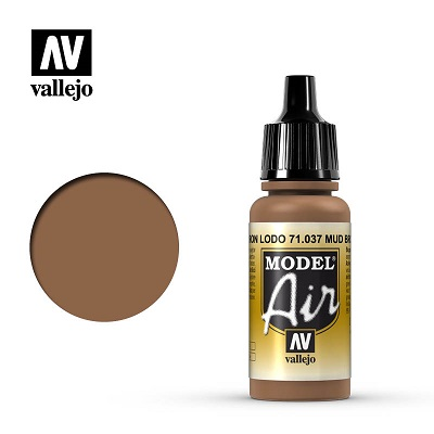 Vallejo Model Air Mud Brown 71037