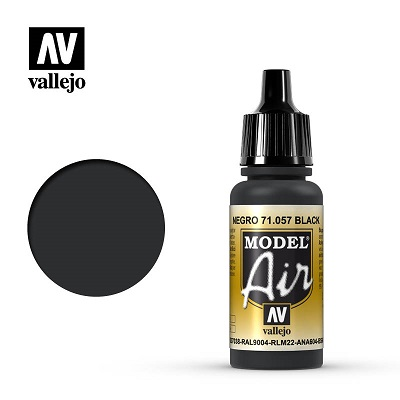 Vallejo Model Air Black 71057