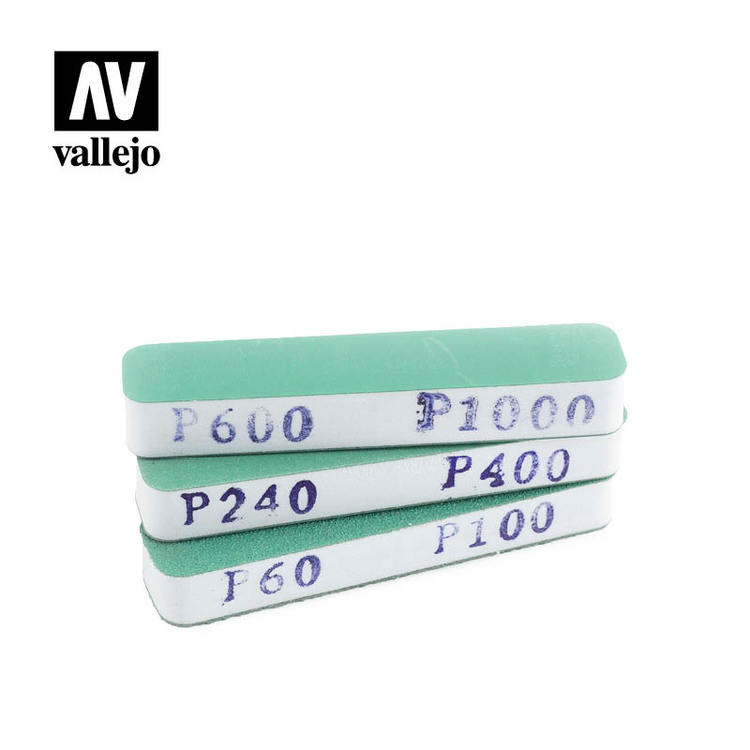 Vallejo Set of 3 Flexi Sanders Dual-Grit (90x19x12 mm)