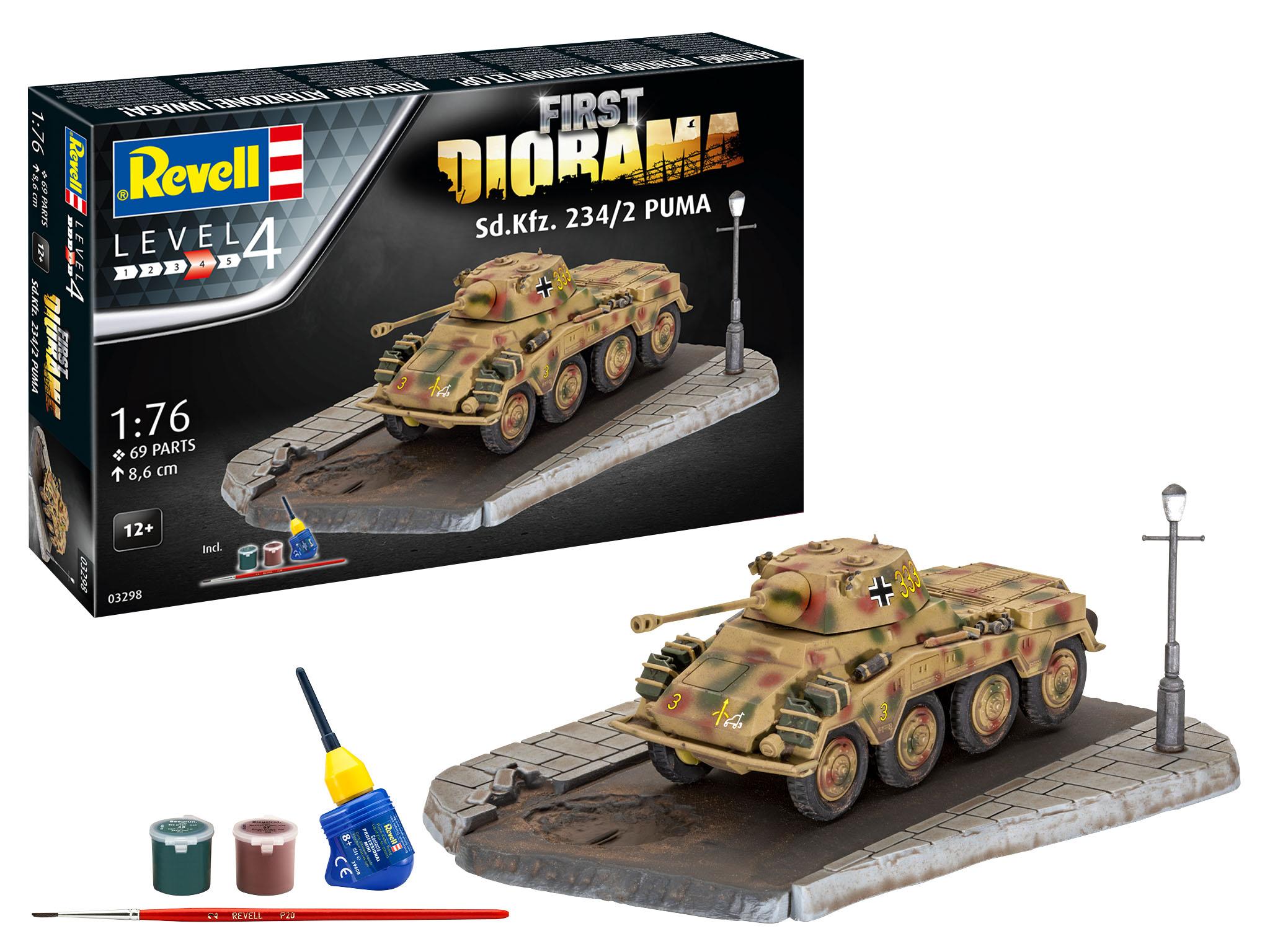 Revell Diorama Set-Sd.Kfz. 234/2 Puma