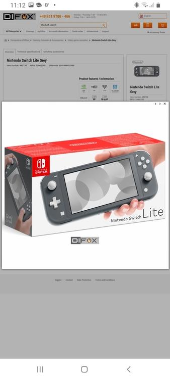 Nintendo Switch Lite Grå