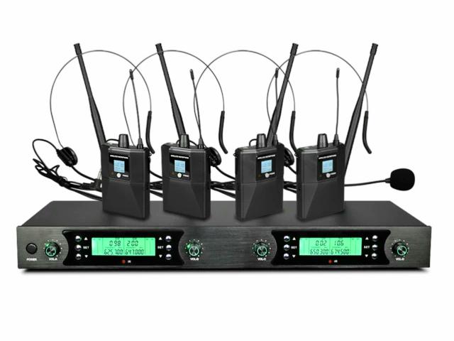4×50 kanal PLL UHF Headset  mikrofonsystem