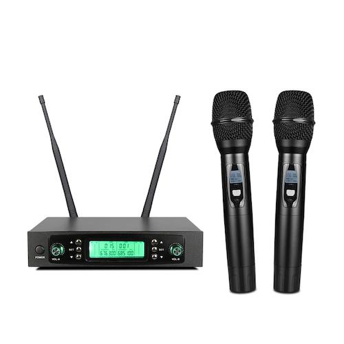 2×50 kanal PLL tådlöst  handmikrofon system