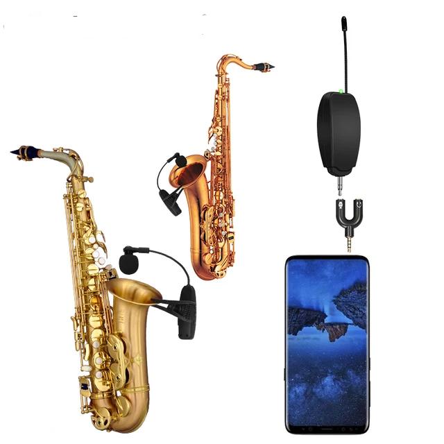 2 kanal UHF trådlös saxofon mikrofon
