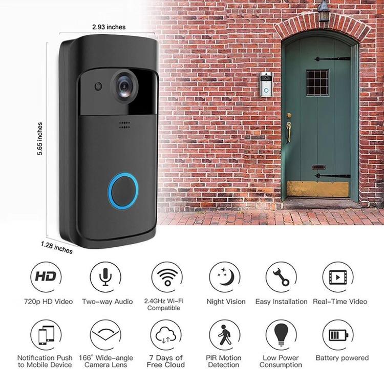 Wifi dörrkamera med direkt inspelning