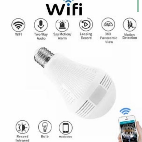 Led Lampa med Wifi,HD videokamera,128GB
