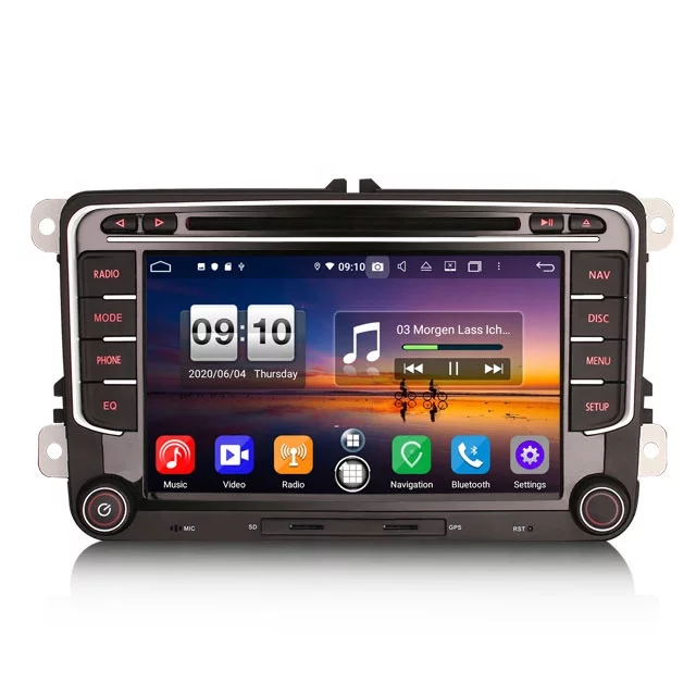 "7"" vw bildstereo, android 10,gps,wifi,bluetooth"