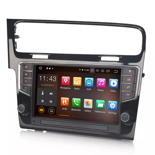 "9"" bilstereo android 10 ,VW Golf 7"