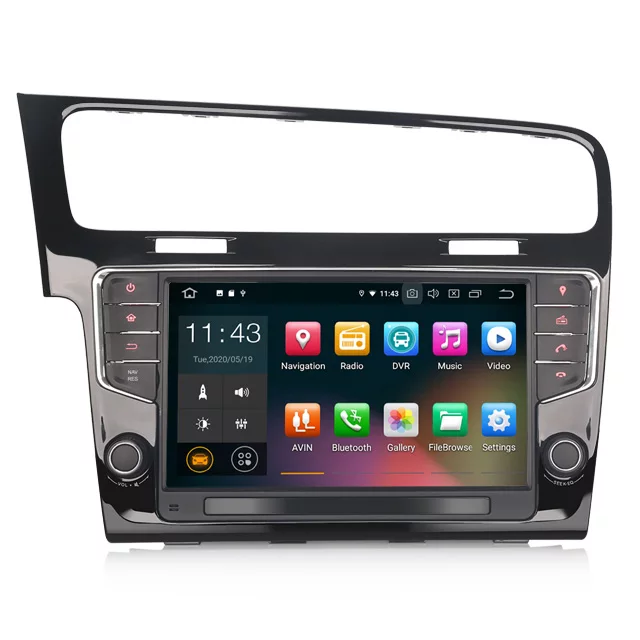 """9"""" bilstereo android 10 ,VW Golf 7"""