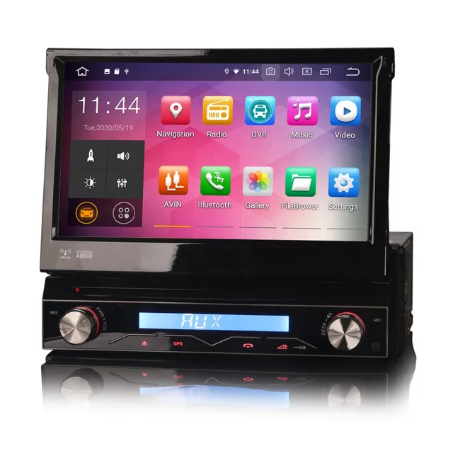 "7"" 1DIN bilstereo android10,gps,dvd,wifi, lös frontpanel"