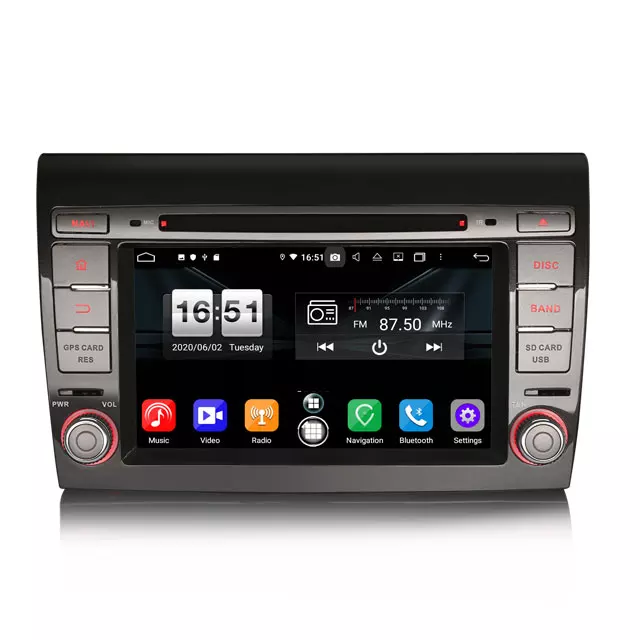 "7"" Android 10 bilstereo FIAT BRAVO(2007---2014)"